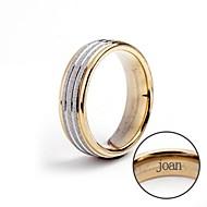 Inel cadou personalizat din oțel inoxidabil de bijuterii gravate