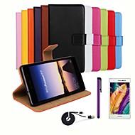 billiga Mobil cases & Skärmskydd-fodral Till Huawei Huawei P7 Huawei-fodral Korthållare Plånbok med stativ Lucka Fodral Ensfärgat Hårt PU läder för Huawei P7 Huawei