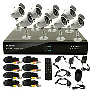 cheap DVR Kits-8 Channel CCTV DVR System(8 Outdoor Warterproof Camera,PTZ Control)