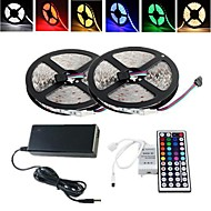cheap LED Strip Lights-RGB Strip Lights Light Sets Flexible LED Light Strips LEDs RGB Remote Control / RC Cuttable Dimmable Waterproof Color-Changing