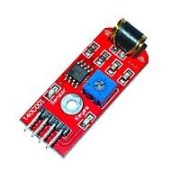 módulo keyes 801s sensor de vibração - vermelho (dc 3 ~ 5v)