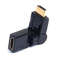 Lwm® Hdmi-Port Saver Adapter Mandlige Og Kvindelige Kobling 360 Graders Drejelig