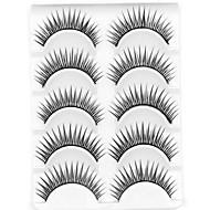 Eyelashes lash Eyelash Natural Long Volumized Natural Curly Fiber