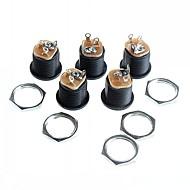 dc-022 stopcontact socket 5,5-2,1 schroefdraad moer panel montage gat (5st)