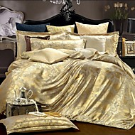 4 Piece Cotton Royal Style Jacquard Duvet Cover Set
