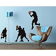 billiga Väggklistermärken-Människor Sport Väggklistermärken Väggklistermärke i svarta tavlanstil Dekrativa Väggstickers, Vinyl Hem-dekoration vägg~~POS=TRUNC Vägg
