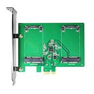 baratos Placas de Expansão-maiwo kcssd2 2 x 1,8 polegadas mSATA pci-e ssd mSATA para pci-e cartão