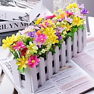 Branch Polyester Plastic Daisies Tabletop Flower Artificial Flowers