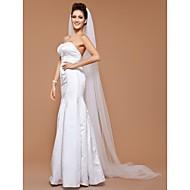 Χαμηλού Κόστους Έκπτωση-Μίας Βαθμίδας Χωρίς τελείωμα Πέπλα Γάμου Πολύ Μακριά Πέπλα Με 118,11 ίντσες (300εκ) Τούλι