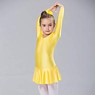 billige Udsalg-Ballet Kjoler Dame Spandex Langærmet Kjole