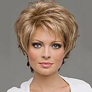 Synthetische Perücken Locken Stil Kappenlos Perücke Blond Blonde Synthetische Haare 10 Zoll Damen Blond Perücke