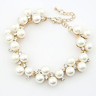 Clear White Bracelet Pearl Imitation Diamond Ladies Bracelet Jewelry White For Daily