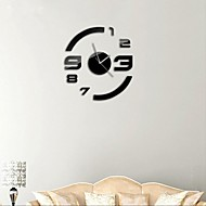 "cheap Wall Clocks-21""H Modern Style DIY 3D Mirror Acrylic Surface Sticker Wall Clocks For Bedroom Livingroom"