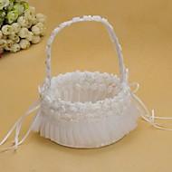 "Flower Basket Drvo Saten 3 1/2 ""(9 cm) 8 3/5 ""(22 cm) Akril Masne"