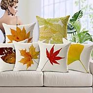 tanie Zestawy poduszki-6 szt Cotton / Linen Pokrywa Pillow, Natura Kraj