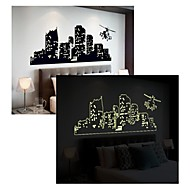 明るい壁のステッカー壁のステッカー、スタイル、多く階建ての建物PVCウォールステッカー