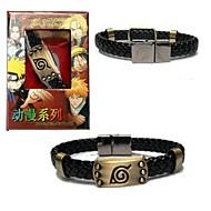 Jóias Inspirado por Naruto Fantasias Anime Acessórios de Cosplay Braceletes Preto Liga Masculino