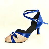 billige Moderne sko-Dame Moderne Standard sko Glimtende Glitter Paljett Høye hæler Spenne Kustomisert hæl Rød Rosa Sølv Blå Gull Kan spesialtilpasses