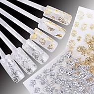 preiswerte 3D Sticker-24 Stück von gemischten weißen Hintergrund Hot Yinhua 3d Nagel Sticker