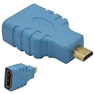 HDMI hun til micro HDMI mandlige adapter-blå