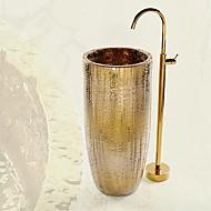 Античный Установка на полу Установка на полу with  Керамический клапан  Одной ручкой одно отверстие for  Титан с влогоотталкивающим