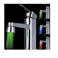 billige Rabatt Kraner-lysende lys lys opp ledet vann kranen dusj kranvann dyse hodet lys bad kjøkken kraner