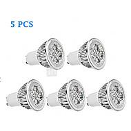 halpa -5W GU10 LED-kohdevalaisimet MR16 4 Teho-LED 380 lm Lämmin valkoinen / Kylmä valkoinen Himmennettävä AC 220-240 V 5 kpl