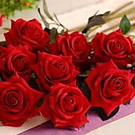 billige Kunstige blomster-Gren Silke Plastikk Roser Bordblomst Kunstige blomster