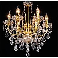 Tradisjonell / Klassisk Krystal LED Lysestager Baggrundsbelysning Til Stue Soveværelse Køkken Spisestue Læseværelse/Kontor Entré Garage