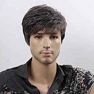 Parrucche sintetiche Stile Parrucca Nero Nero Nero Parrucca Corto parrucca maschile