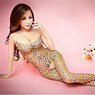 Women's Plus Size Ultra Sexy / Teddy Nightwear - Print Leopard