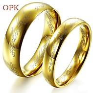 Bruiloft/Feest/Dagelijks/Causaal/Sport - Ringen voor stelletjes ( Titanium Staal/Verguld , Gouden )