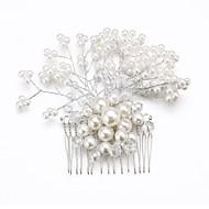 levne Svatební ozdoby do vlasů-Ženy Malé družičky Křišťál Slitina Imitace perly Přílba-Svatba Zvláštní příležitost Hřebeny na vlasy Květiny