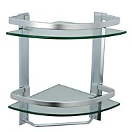 Bathroom Shelf / Aluminum Aluminum Tempered Glass /Contemporary