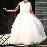 Vestido de vestidos de baile de princesa Vestido de menina de flor - Tulle sem mangas colherinho de pescoço by ydn