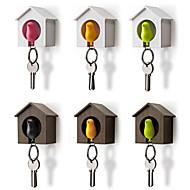 Fugl hus nøkkelring oppbevaring rack vegg nest krok fløyte nøkkelring arrangør holder tilfeldig farge