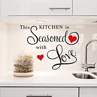 adesivos de parede decalques da parede, esta cozinha é temperado com cozinha amor pvc adesivos