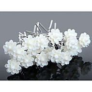 billiga Brudhuvudbonader-Kristall Akrylfiber Tyg Tiaras Hårpinne 1 Bröllop Speciellt Tillfälle Fest / afton Casual Hårbonad