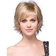 High Quality Capless Short Wavy Mono Top Human Hair Wigs Six Colors to Choose