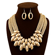 cheap Group Buy Saturday-Women's Layered Jewelry Set - Statement, Ladies, Luxury, Vintage, Party, Work Include Drop Earrings Bib necklace Deep Purple / Screen Color For Party Special Occasion Daily / Necklace