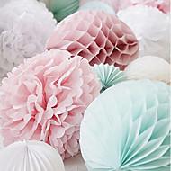 billige Papirsblomster-Bryllupsfest Perle-papir Blandet Materiale Bryllup Dekorationer Strand Tema / Have Tema / Blomster Tema / Sommerfugl Tema / Klassisk Tema