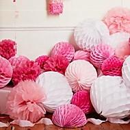 Χαμηλού Κόστους Λουλούδια από Χαρτοπετσέτες-Γαμήλιο Πάρτι Χαρτί Περλέ Μεικτό Υλικό Διακόσμηση Γάμου Παραλία Θέμα / Θέμα Κήπος / Άνθινο Θέμα / Θέμα Πεταλούδα / Κλασσικό Θέμα Χειμώνας