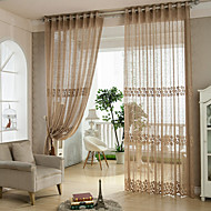 To paneler Window Treatment Barokk Europeisk Designer Rustikk Moderne Neoklassisk Middelhavet Rokoko , Stribe Stue Polyester Materiale