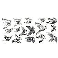 Tatuointitarrat Muut - Paperi - Alaselkä 24*10CM - Harmaa/Musta - 1 - Naisten/Miesten/Aikuinen/Teini
