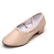 billige Moderne sko-Dame Ballettsko Lær Splitt såle Snøring Tykk hæl Kan ikke spesialtilpasses Dansesko Svart / Rød / Rosa