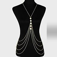 Krops Kæde / mavekæde Unikt design, Fest, Afslappet, Mode, Damer Dame Guld Kropssmykker Til Fest