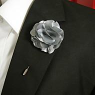 hesapli -Erkek Kadın's Broşlar Titanyum Çiçek Gümüş Gri Şık Mücevher Günlük Kostüm takısı