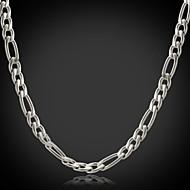 Dame Figaro kæde / Chunky Kædehalskæde - Rustfrit Stål, Titanium Stål Mode Sølv Halskæder Til Julegaver, Bryllup, Fest