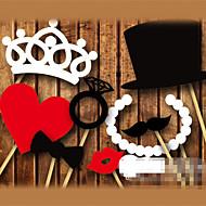 Photo Booth rekvizity Perlový papír Svatební dekorace Svatební / Párty Plážový motiv / Zahradní motiv / Motiv Las Vegas Jaro / Léto / Podzim