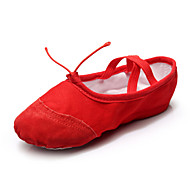 Women's Girl's Athletic Dance Shoes Ballet/Yoga Leather / Canvas / Paillette Flat Heel (More Clore)